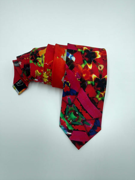 Red Satin Silk Tie