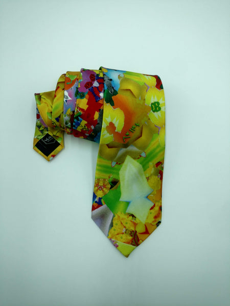 Yellow Satin Silk Tie