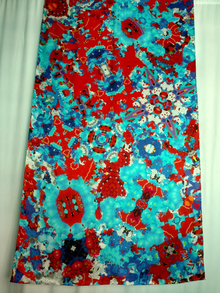 Red, White and Blue Scarf - Satin 16mm - 43x86 Inches