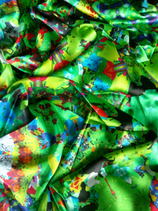 Green Scarf - Satin 16mm - 43x86 Inches