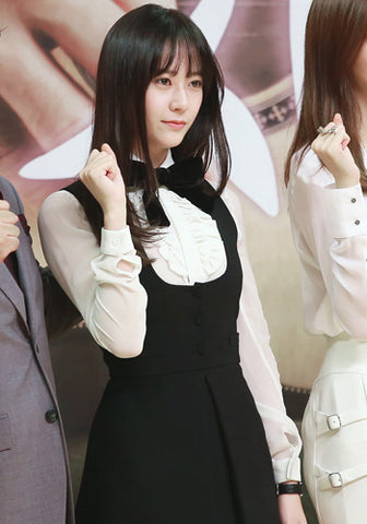 f(x) Krystal My Lovely Girl and Birth of a Beauty White Blouse Black Dress