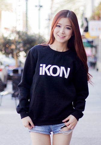 Korean Kpop Band iKon Team B Sweater Pullover Top