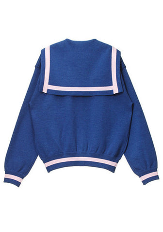 Blue and Pink Japanese Sailor Cardigan