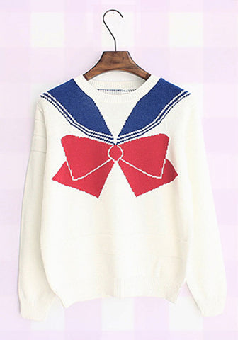 Sailor Moon Uniform Long Sleeves Pullover