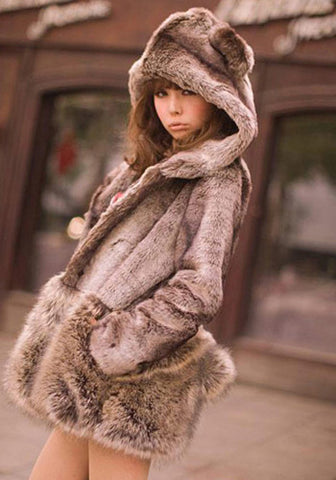 Cozy Brown Bear Oversized Fuzzy Jacket