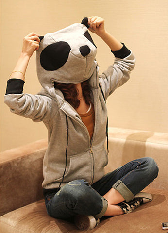 Panda Head Zipper Jacket