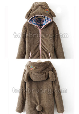 Oversized LB Animal Ear Jacket