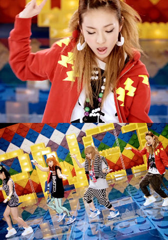 2NE1 Dara Don't Stop The Music MV Lightning Bolt Jacket