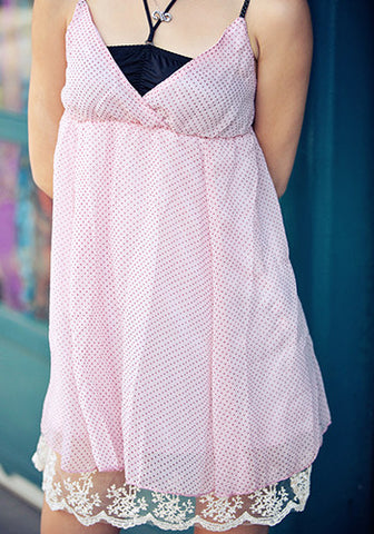 Polka Dot Dress in Pink