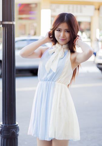 Pastel Collar Chiffon Dress