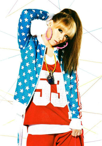 2NE1 CL American Flag Stars and Stripes Jacket