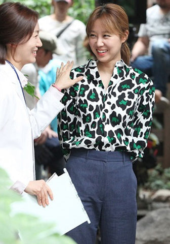 It's Okay That's Love Gong Hyo Jin Doggies Playing Leopard Shirt