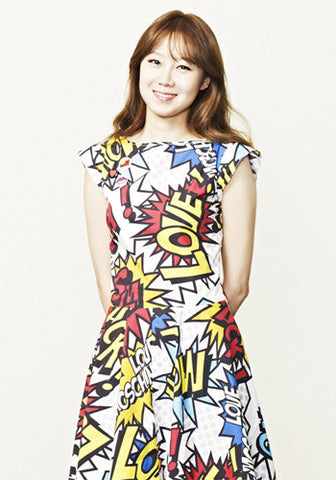 It's Okay That's Love Gong Hyo Jin Graffiti Print Poster Dress