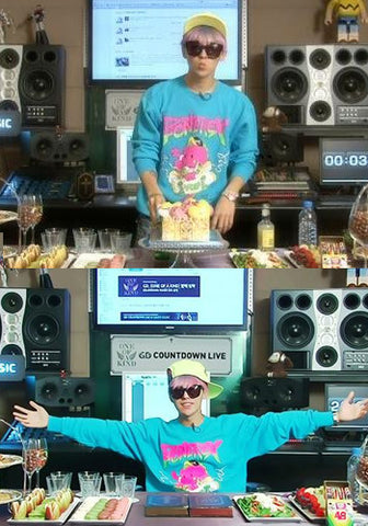 Big Bang G-Dragon GD Bonerex Cartoon Dinosaur Pullover Top