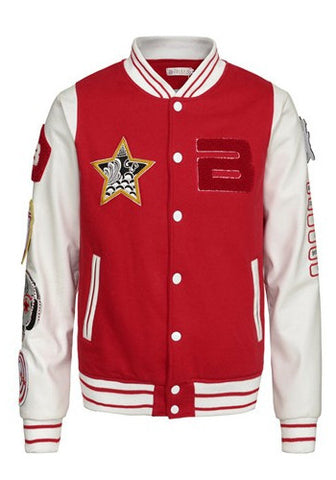 Big Bang Alive Tour Red White Varsity Letterman Jacket