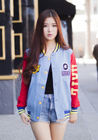 Mad For Fame Multi-Color Varsity Jacket