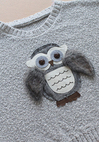 Fuzzy Owl Pop Out Top