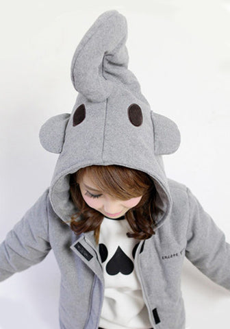 Elephant Head Spirit Jacket in Grey