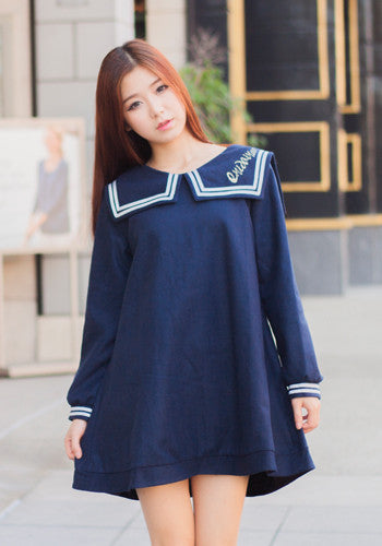 Japanese style fashion navy sailor uniform dress starberrykoko Yes style japanese fashion