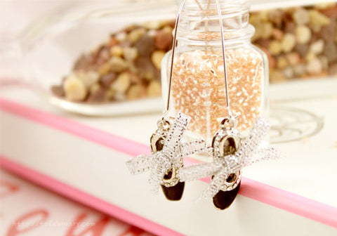 Angel Wings on Heart Earrings