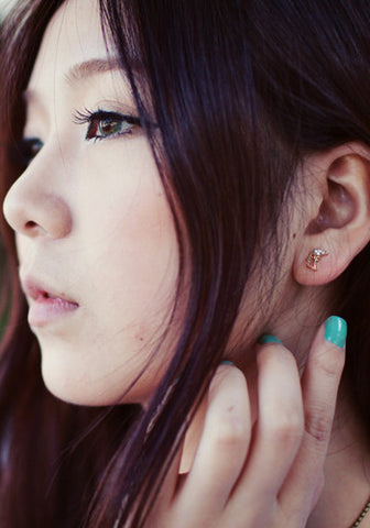 Kpop Purple Unicorn Earrings