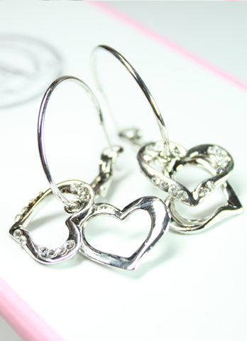 Love Hearts Hoop Earrings