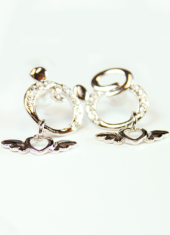 Silver Plates Hoop Earrings