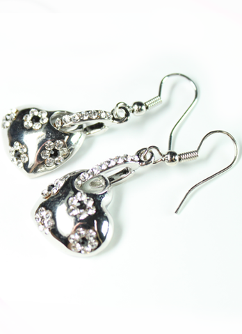 Flowery Heart Earrings
