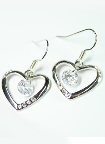 Jewel in Heart Earrings