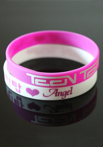 Teen Top Silicone Jelly Wristband Bracelet