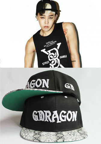 Big Bang G-Dragon GD Snapback Cap