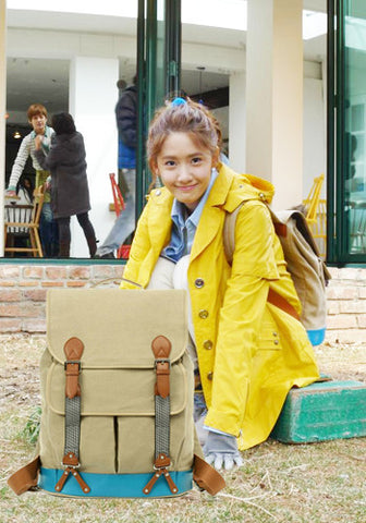 Korean TV Drama Love Rain Yoona Canvas Backpack