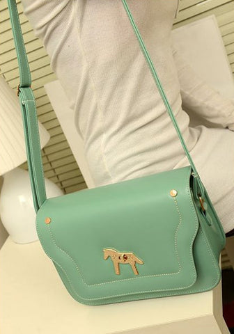 Korean Styled Green Horse Purse