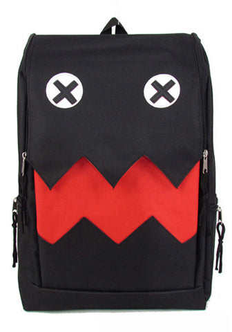 Korean Style Monster Mouth Canvas Backpack