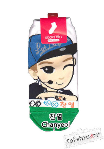 Korean Kpop Band EXO EXO-K EXO-M Member Cartoon Character Socks