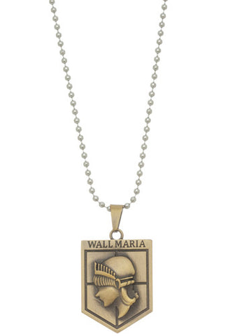Attack On Titan Shingeki no Kyojin Wall Sina Rose Maria Emblem Necklace