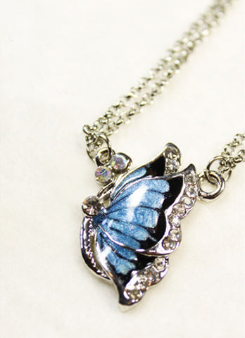 Jewel Blue Butterfly Necklace