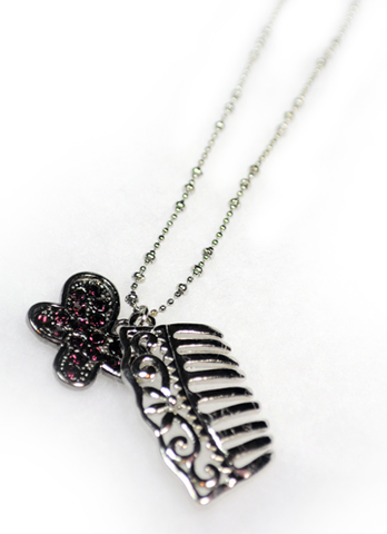 Butterfly and Comb Necklace
