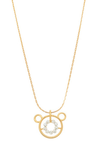Gold Mouse Necklace