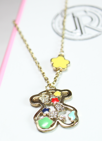 Colorful Teddy Bear Necklace