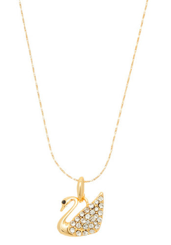 Golden Swan Necklace