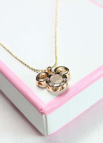 Gold Classic Mouse Necklace