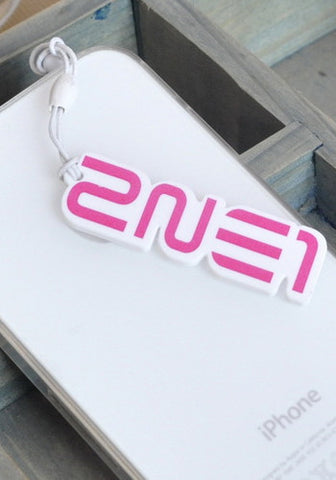 Pink Bow Cellphone Keychain