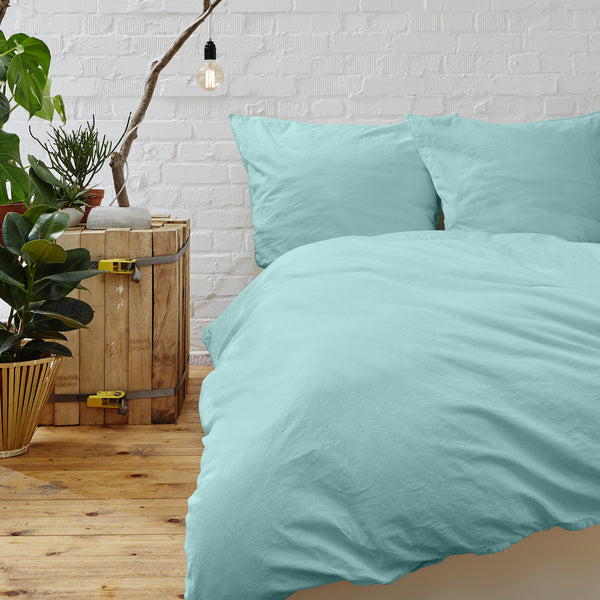 Cypress Linen Collection 1800 Series 3-Piece Aqua Duvet Sets