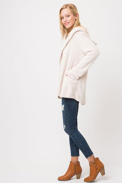 Cypress Linen Super Soft Fuzzy Jacket Comfy and Stylish