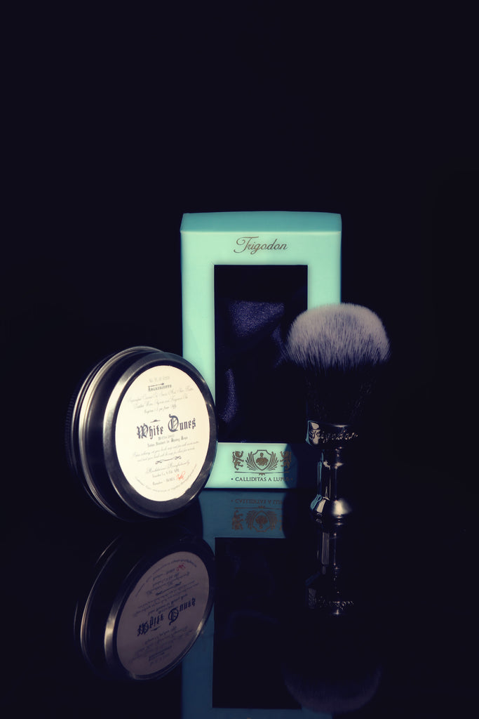 White Dunes Shaving Soap and Calliditas Shaving Brush