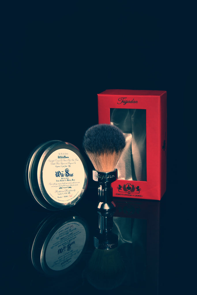 Wild Seas Shaving Soap and Fortitudinem Shaving Brush