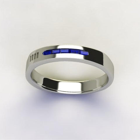 """Customized """"Timeless"""" Platinum Mens' Engagement Ring - Featured In Forbes Magazine"""
