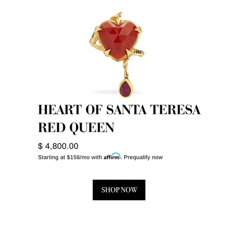 Karen Karch Rio Rush - Heart Of Santa Teresa Red Queen Ring