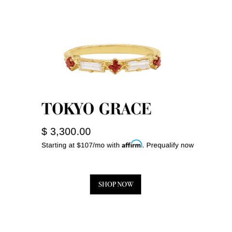 Tokyo Collection - Diamond & Ruby Grace Ring